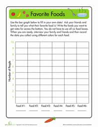 favorite foods worksheet education com