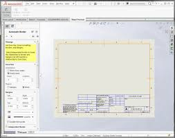 solidworks automatic drawing border makes annotation easier