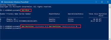 how to change drive letter using powershell on windows 10