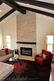 Cathedral Ceiling Living Room Ideas by Vaulted Ceiling Beams Gallery Photos And Ideas To Inspire