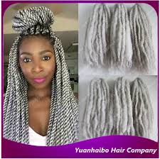grey marley braiding hair new stock 20 synthetic afro twist silver grey synthetic hair