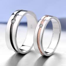 his and hers wedding bands matching engraved promise ring bands for him and personalized