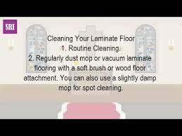 how do you take care of laminate wood floors