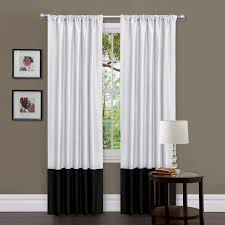 gorgeous black and white curtains for elegant atmosphere ideas