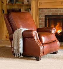 main image for chestnut leather push back recliner