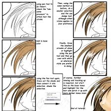 simple tutorial on anime hair by nch85 on deviantart