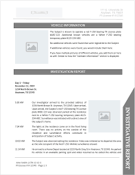 report template investigator report templates free business template