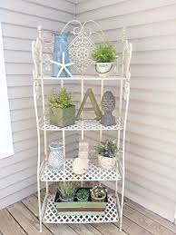 etagere shabby shabby chic bakers rack up only etagere by farmhousestyles