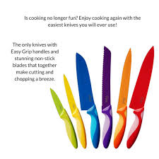 set of 6 easy grip kitchen knives u2013 yumyumutensils