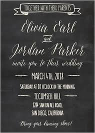 chalkboard wedding invitations chalkboard wedding invitations match your color style free