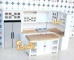 miniature dollhouse kitchen furniture dollhouse kitchen set white dollhouse miniature furniture wood