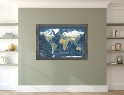 Framed World Map by Featured Maps Geojango Maps