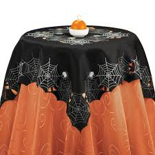 halloween linens spiderweb halloween table linens by collections etc