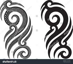 maori shoulder maori styled tattoo pattern fits shoulder stock vector 102870689