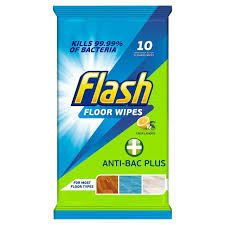 flash cleaning wipes anti bacterial 10 per pack from ocado