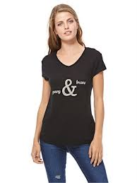 koton kids koton black v neck t shirt for women price review and buy in