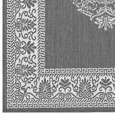 Grey Outdoor Rugs Antique Medallion Grey Outdoor Rugs Home Infatuation