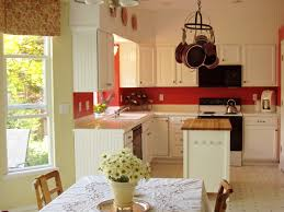 kitchen style kitchen cottage design white cabinets red