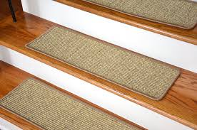 decorating beautiful hickory stair treads with wooden railing and
