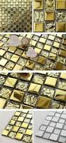 Mosaic Tile Kitchen Backsplash Gold Mirror Tiles Fireplace Wall Decor Golden Glass Mosaic Tile
