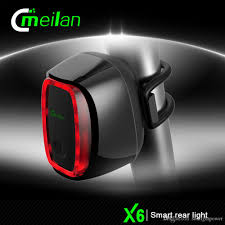 best usb rechargeable rear bike light meilan smart bicycle rear light bike cycling tail l 16 led