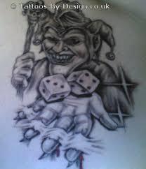 evil jester creepy jester tattoos jester