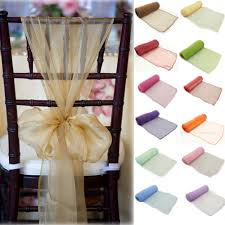 chair sashes for wedding ferr shipping 100pcs new organza chair sashes bow wedding party