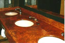 Concrete Staining Pictures by Decorating Good Looking Stained Concrete Countertops Design Ideas