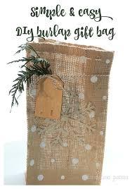 burlap gift bags diy burlap gift bag how to dandelion patina