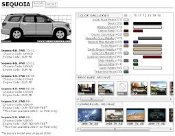 toyota sequoia paint codes chassis codes and brochure archive