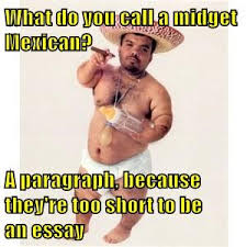 Mexican Funny Memes - what do you call a midget mexican a paragraph because they re too