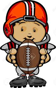cartoon clipart football player pencil and in color cartoon