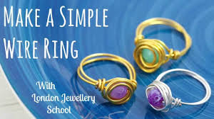 make jewelry rings images Make a simple wire ring diy jewelry making tutorial jpg
