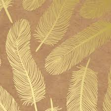 gold foil wrap feathers gold foil kraft gift wrap haute papier
