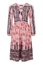 topshop dress embroidered smock dress topshop