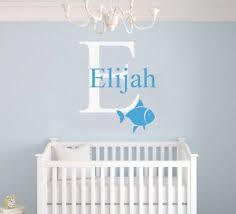 Nautical Nursery Decor Custom Name Initial Nautical Nursery Decor Vinyl Wall Decal