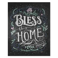 Home Wall Decoration Lily U0026 Val U2013 Bless This Home Print Vintage Home Wall Decor