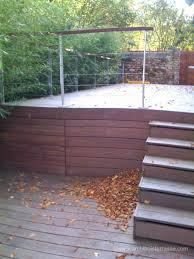 terrasse en bois suspendue terrasse bois en hauteur sur pilotis suspendue sur poteaux 27 78 76