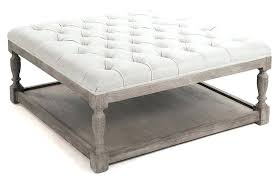 Kinfine Storage Ottoman Square Tufted Storage Ottoman Coffee Table Tufted Ottoman From