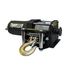 traveller 12v atv electric winch 2 500 lb capacity at tractor