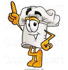 clipart cuisine cuisine clipart of a cheerful chefs hat mascot character