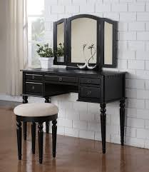 Vanity Bedroom Bedroom Furniture Black Classic Wooden Dressing Table With