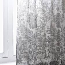 blurred damask print linen curtain curtains bedroom zara