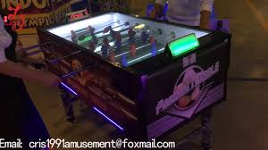 electronic table football game luxury soccer table football game machine coin operated for arcade