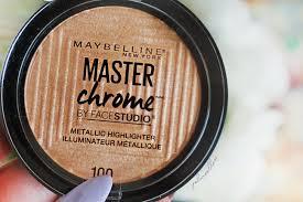 Maybelline Master Chrome maybelline facestudio master chrome metallic highlighter molten