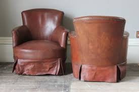Tub Leather Chairs Pair Of Circa 1950s Leather Tub Chairs Leather Armchairs