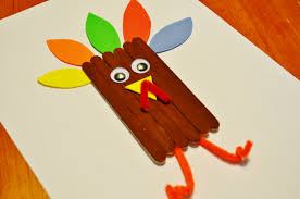 thanksgiving turkey craft sticks craft for