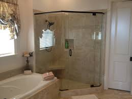 bed bath glass shower door by neo angle with tile bathtub and