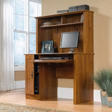 Sauder Registry Row Desk Sauder Harvest Mill Computer Desk With Hutch Abbey Oak Finish