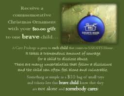ornament care package fundraiser s house child
